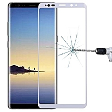 For Samsung Galaxy Note 8 0.3mm 9H Surface Hardness 3D Curved Silk-screen Full Screen Tempered Glass Screen Protector, Small Quantity Recommended Before Samsung Galaxy Note 8 Launching (White)