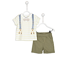 Multicoloured Fashionable T-shirt&Short Set..