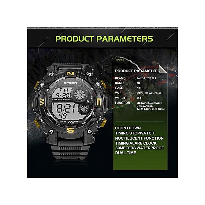 ad734309d35 ... 2017 New Luxury Brand Sanda Men s Watches LED Digital Watch Men  Waterproof Shock Resist Outdoor Sports ...