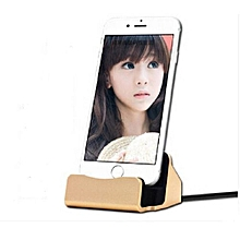 Charger Dock Charge And Sync Stand For IPod IPhone 5 5s 6 6s Plus With Charger Cable - Glod