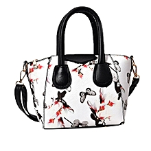 guoaivo Women Small Satchel bag Flower Butterfly Printed Shoulder Bag Crossbody Bag WH