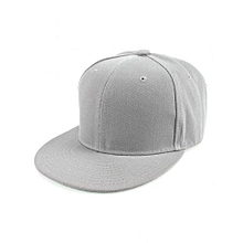 White Plain Snapback Hat