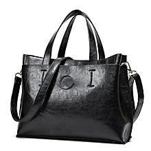 Vintage PU Leather Handbag Pure Color Shoulder Bags Crossbody Bag For Women