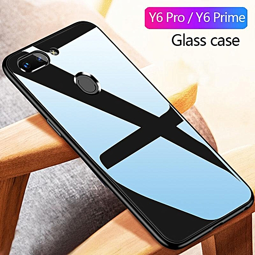best service 756a2 58933 Glass Case For Huawei Y6 Prime Y6 Pro 2018 Cover Full Protection Tempered  Glass Back Cover Casing For Huawei Y6 Prime Pro 2018 Glass Housing (Y6 Pro  ...