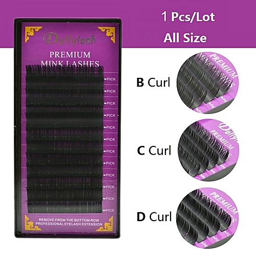 022d34aa7bc Generic Dollylash 12 Rows Individual Natural Premium False Mink Lashes For  Professionals Makeup Eyelash Extension Fiber Free ShippingCurl: C  Thickness: 0.07 ...