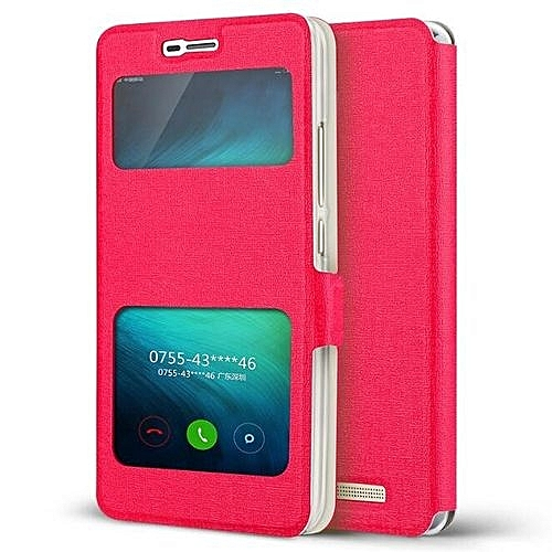 super popular 30795 4fb27 Open-Windows Leather Flip Case Cover For Xiaomi Redmi 3 Redmi3 Case Cover  Case 5 Inch(Red)