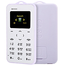 C6 1.0 Inch Pocket Card Phone Russian Keyboard GSM Bluetooth 2.0 Calendar Alarm - Purple