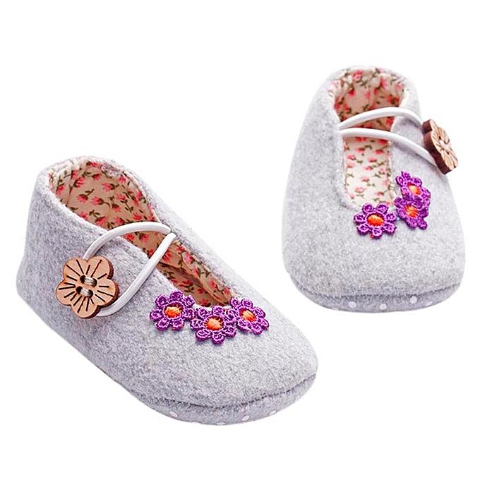 Buy Fashion Jiuhap Store Newborn Baby Girl Crib Shoes Soft Sole Anti