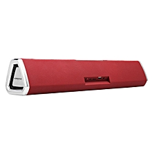 20W Wireless Bluetooth Speaker Soundbar Touch NFC Cloth Sound Bar Subwoofer Red