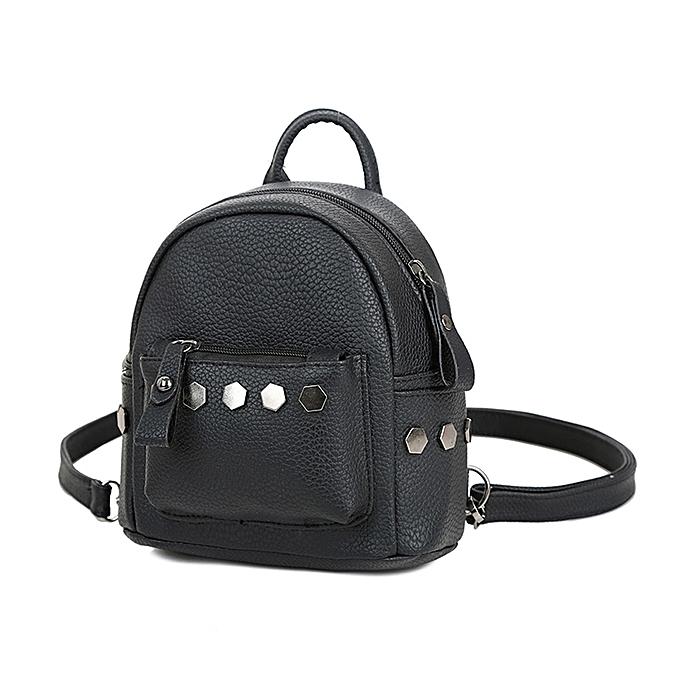 koaisd Fashion Women Backpack Good Quality Rivet School Backpacks Leather  Backpack BK 0481c816a8eaa