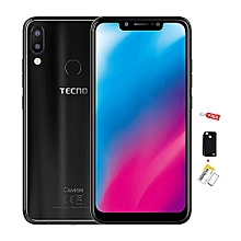 "Camon 11 -[32GB+3GBRAM]- 4GLTE -6.2"" -16MP- Dual SIM- Black + Free  360 Cover & Screen Guard"