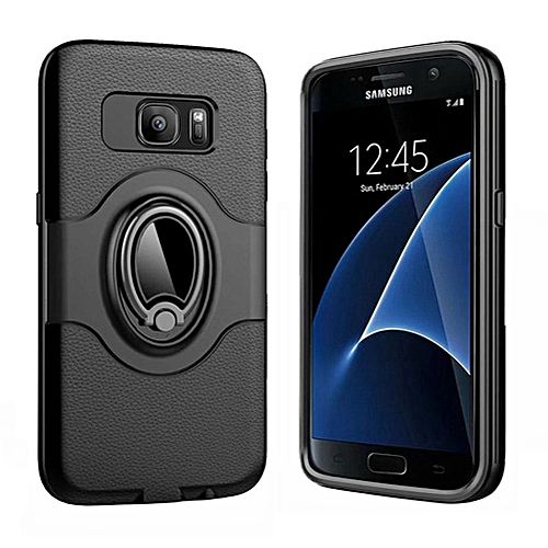 reputable site d33cc d9d53 Case For Samsung Galaxy S7 Edge,360 Degree Rotating Ring Kickstand With  Magnetic Car Mount Anti-Impact Hybrid Hit Color Protective Case Cover For  ...
