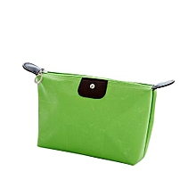 Waterproof Nylon Zip Cosmetic Bag #10 - Green