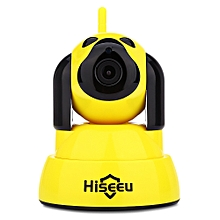 Hiseeu HSY - FH4 720P WiFi IR CUT Indoor IP Camera-YELLOW
