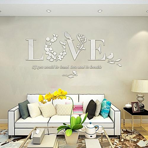 d941943c9e Fashion NIA Stylish Removable 3D Leaf LOVE Wall Sticker Art Vinyl Decals  Bedroom Decor