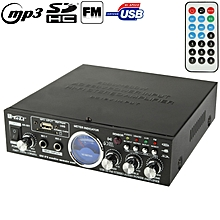 AK-901 Stereo Audio Karaoke Power Amplifier with Remote Control, Support SD Card / USB Flash Disk / FM Radio(Black)