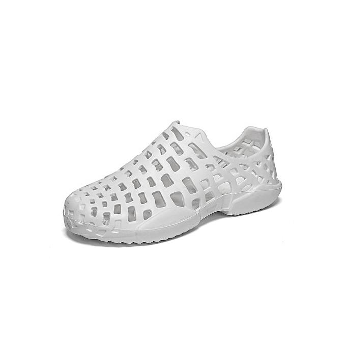 e506d50f40de13 New Super Large Size Men s hole shoes beach summer causal hollow breathable  Couple women s