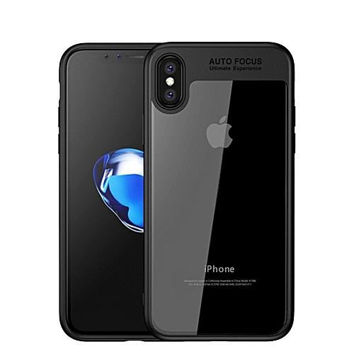 best loved b68cc f99dc colorful TPU silicone + transparent PC iPhone X/iPhone 10 Case Black