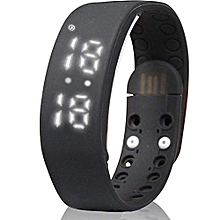 W2 Smart Bracelet Pedometer Sleep Monitor Calories Burned Fitness Watches(Black)
