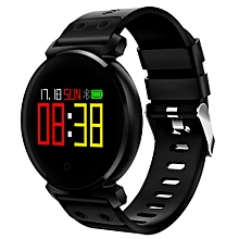 CACGO K2 Bluetooth 4.0 Nordic NRF52832 Chip Sleep / Heart Rate / Blood Pressure / Blood Oxygen / Calories Monitor Remote Camera Smart Watch for iOS / Android Phones BLACK