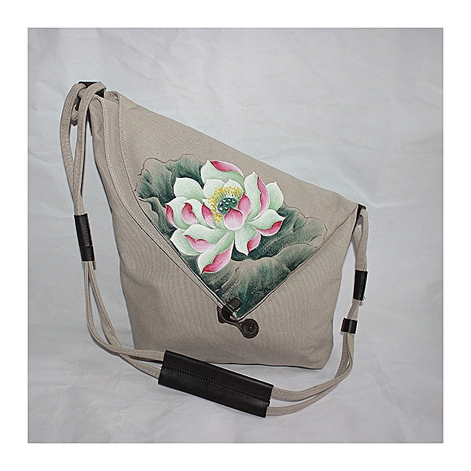 Brenice Women Hand Painted Floral Vintage Chinese Style Shoulder Crossbody  Bag 020a0c59de9ca