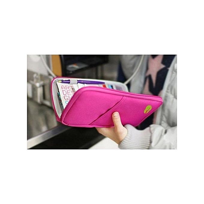 bd94538b066 bluerdream-Travel Multifunction Bag Pouch Passport ID Credit Card Wallet  Cash Holder Case - Hot
