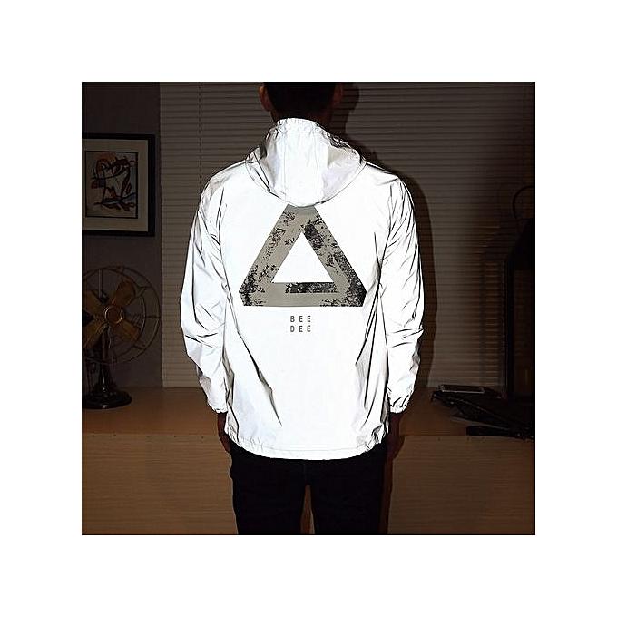 c14c0281c51f1 Yingwoo Men's New Hot Sale: Reflective Jacket Men/women Harajuku Windbreaker  Jackets Hooded Streetwear Coats 3m Jacket Windbreakers-09