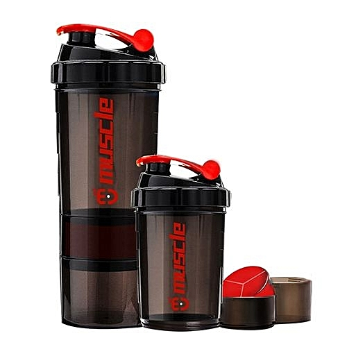 3615cf67977e6 New Protein Powder Shaker Bottle Fitness Mixer Sports Fitness Gym 3 Layers  Cup