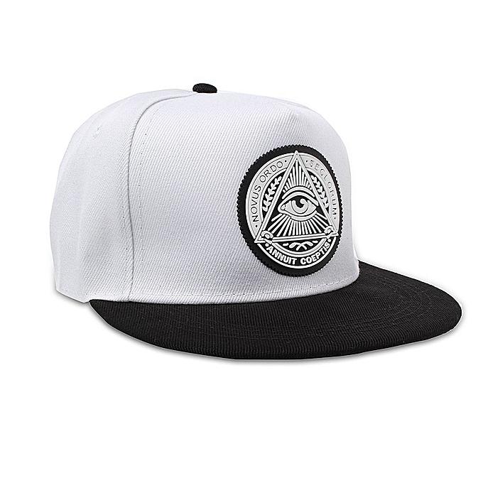 f8f36540 Fashion Men Women Eye Baseball Snapback Hat Hip-Hop Adjustable Bboy Sport  Cap White