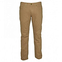 Tan Boys Slim Fit Pants