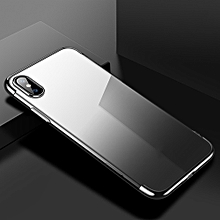 Thin Slim Anti-Scratch Gradient Soft TPU Protective Phone Case Cover For IPHONE X,9,XS Plus Black