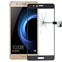 Huawei Honor V8 0.26mm 9H Surface Hardness Explosion-proof Silk-screen Tempered Glass Full Screen Film (Black)