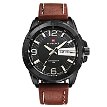 new brand men leather strap sports watches mens quartz clock man army military fashion casual waterproof wrist watch