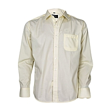 Yellow Long Sleeved Formal Shirt