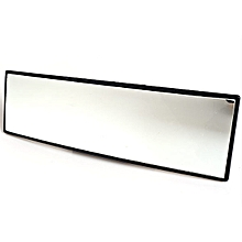 PS-316 240mm x 64mm Interior Decoration Positive Camber Glass Rearview Mirror for Auto Car - Black
