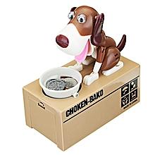 Creative Cute Robotic Dog Model Piggy Coin Bank Money Save Pot Box-