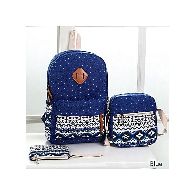 1a0045fb71f2 New 3pcs Set Backpack Women Canvas Travel Bookbags School Bags For Teenage  Girls