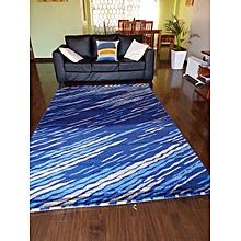 Shaggy Carpet - blue striped