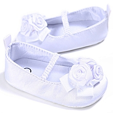 Baby Infant Kids Girl Soft Sole Crib Toddler Newborn Shoes WH/1