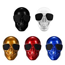 Plastic Skeleton Metallic Wireless Shape BT Speaker Red