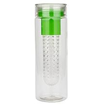 800ML Plastic Fruit Water Bottle Sports Lemon Cup -Green