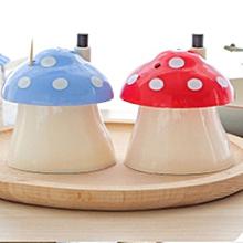 Creative Automatic Toothpick Box Portable Stylish Cute Toothpick Holder mushroom