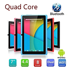 Kid's Tablet PC Quad Core 8GB HD Android 4.4 KitKat Dual Camera WiFi Bundle