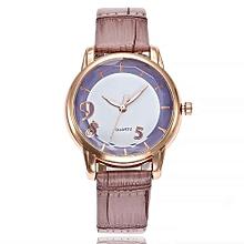 Lady  Leather Wrist Watch Vansvar Vansvar Women's Casual Quartz Leather Band Newv Strap Watch Analog Wrist Watch-Purple