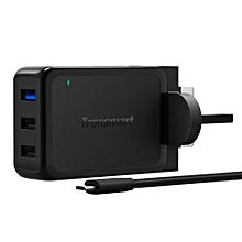 Tronsmart WC3PC 42W Qualcomm Quick Charge 2.0 3Port USB Wall Charger (Black) QTG-W