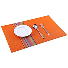 Rainbow Orange Table Mat - 45cm x 32cm - 6Pcs