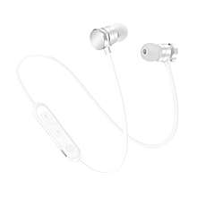 Bluetooth Headset Wireless Stereo Earbuds Running Earplugs Metal Magnetic WH