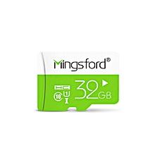 Mingsford Micro SD / TF Memory Card UHS - I Class 10 GREEN 32GB
