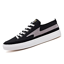 Canvas Shoes For Men Skate Sneakers (Black)