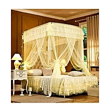 6*6 Mosquito Net With 2 Stands- Cream